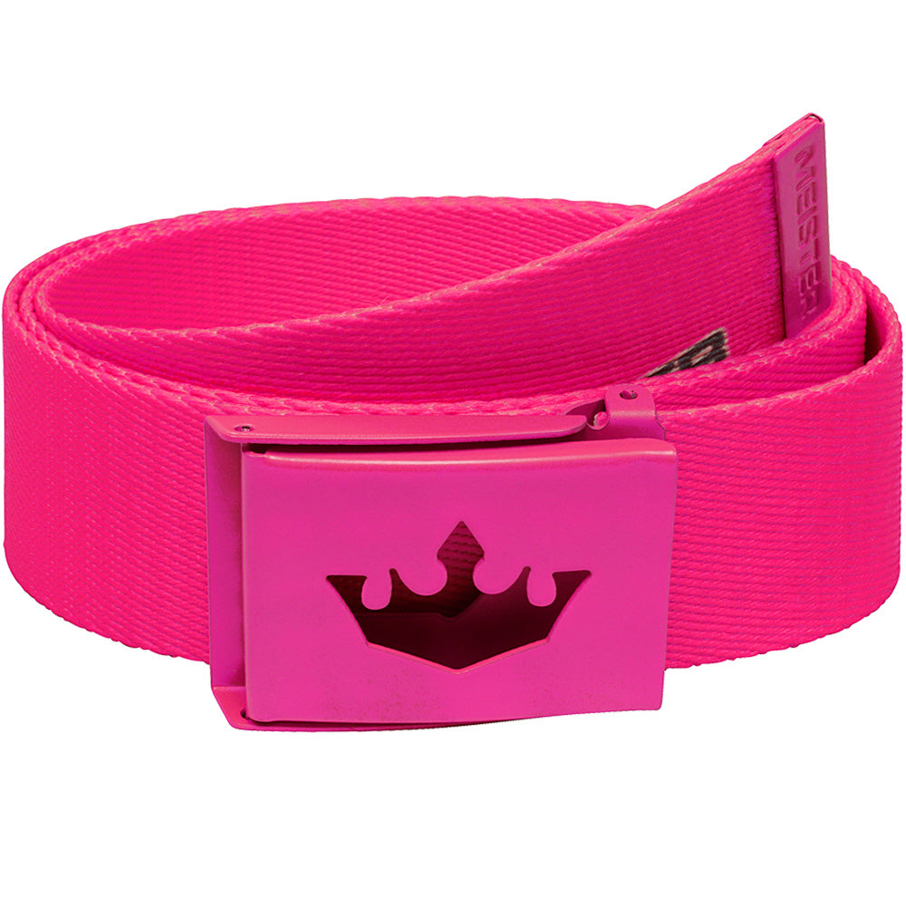 Meister Player Web Golf Belt - Hot Pink