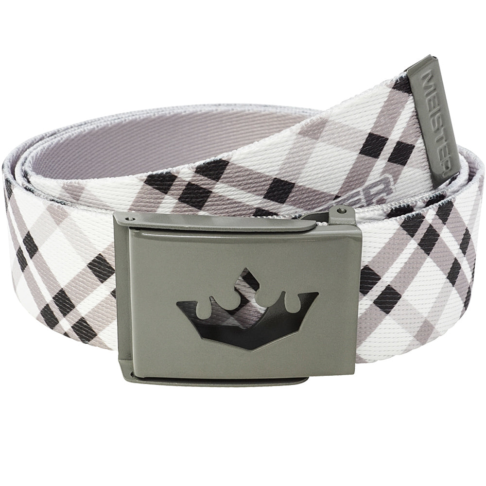 Meister Player Web Golf Belt - Modern Plaid