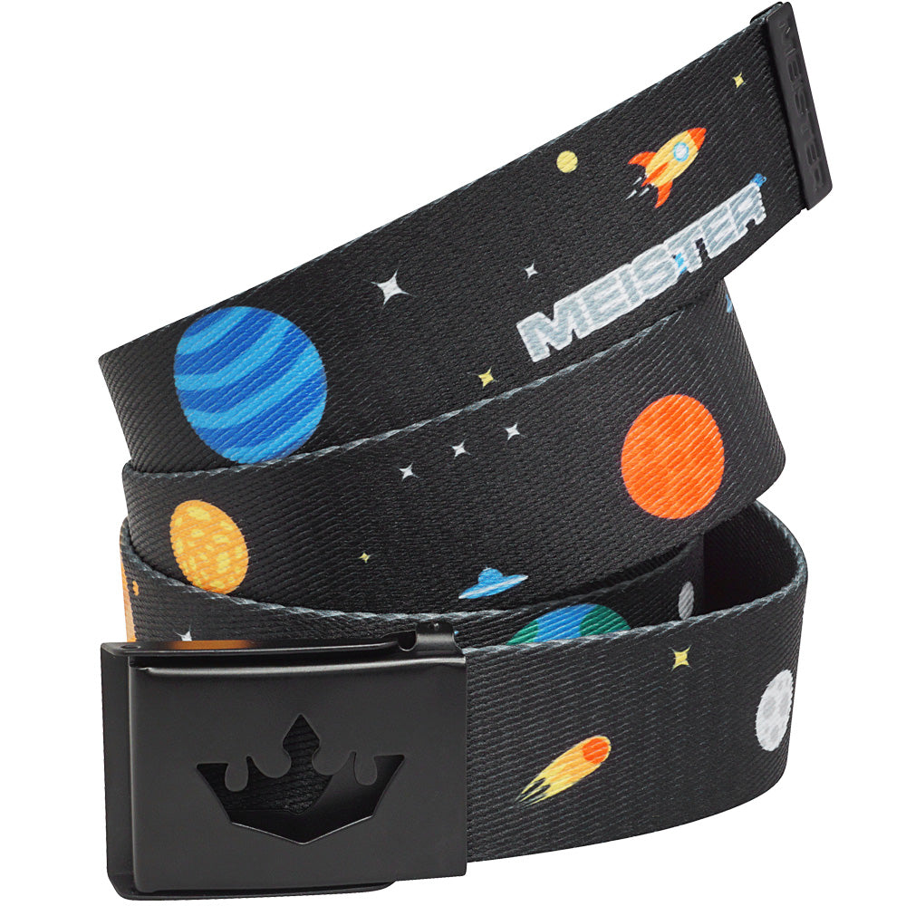 Meister Player Web Golf Belt - Outer Space