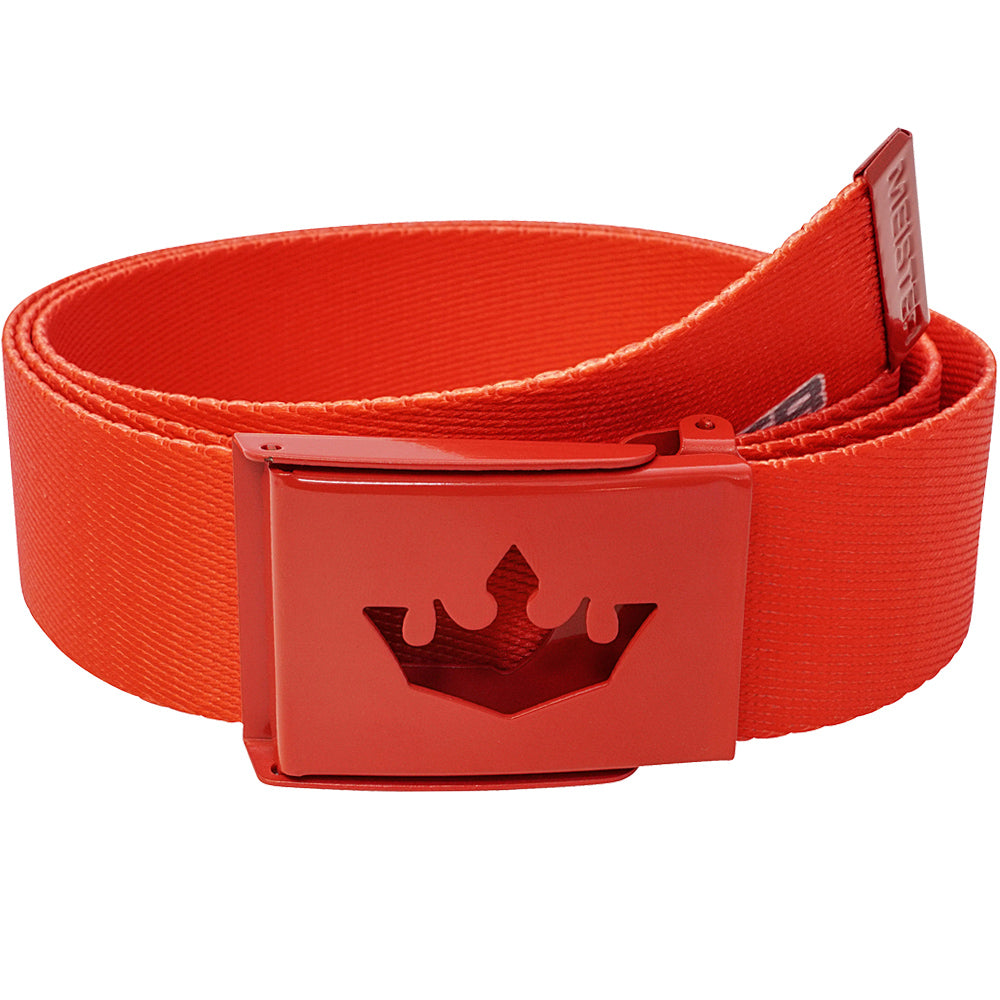 Meister Player Web Golf Belt - Team Red