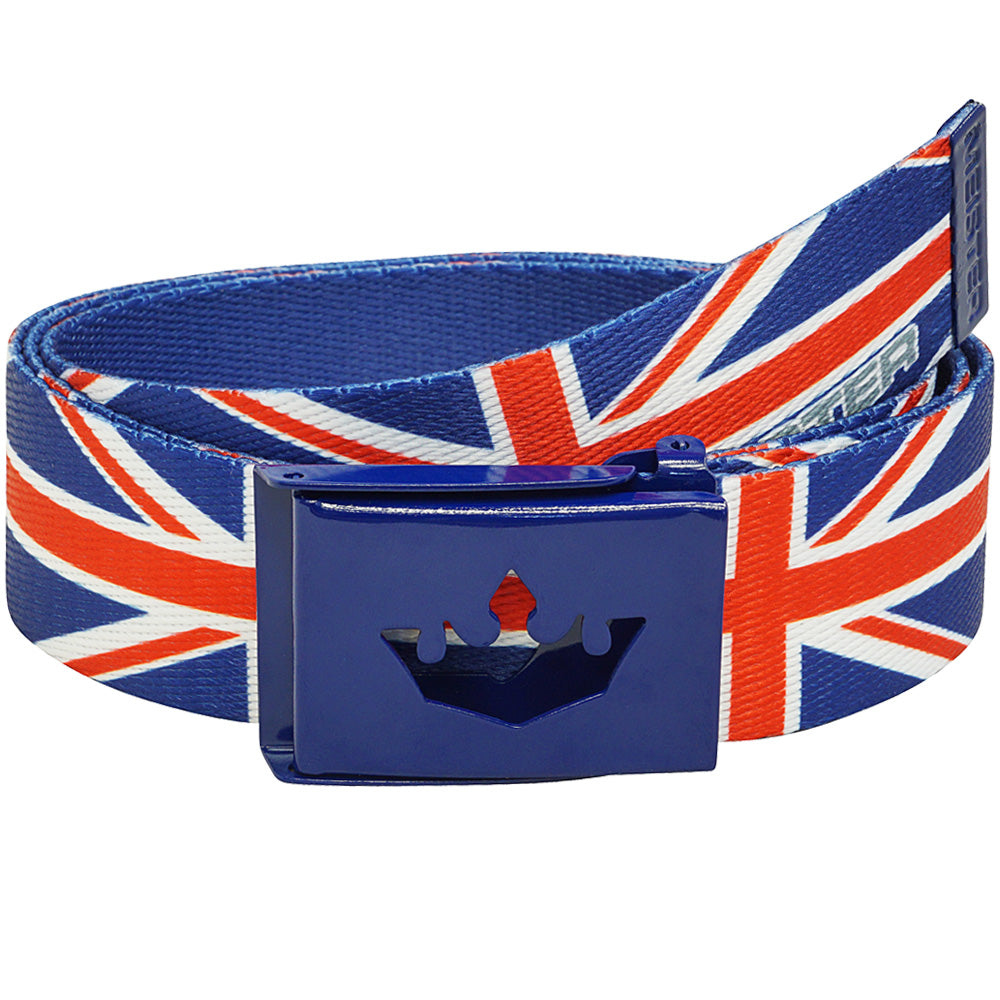Meister Player Web Golf Belt - Union Jack