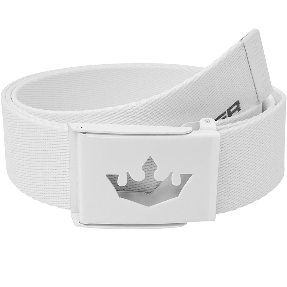 Meister Player Web Golf Belt - White