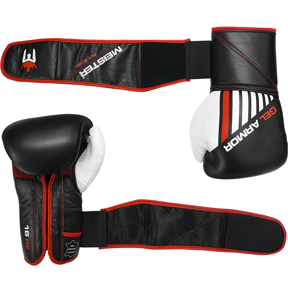 Meister 16oz Gel Armor Training Boxing Gloves / Cowhide Leather