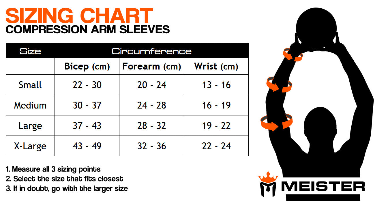 Meister HEX Compression Arm Sleeves (Pair) - Black