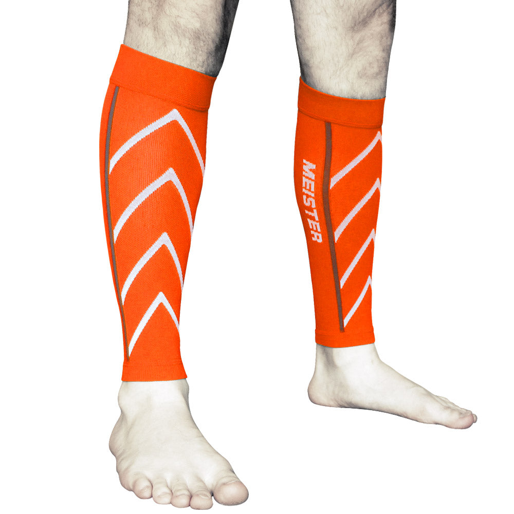 Graduated 20-25mmHg Compression Leg Sleeves (Pair) - Orange