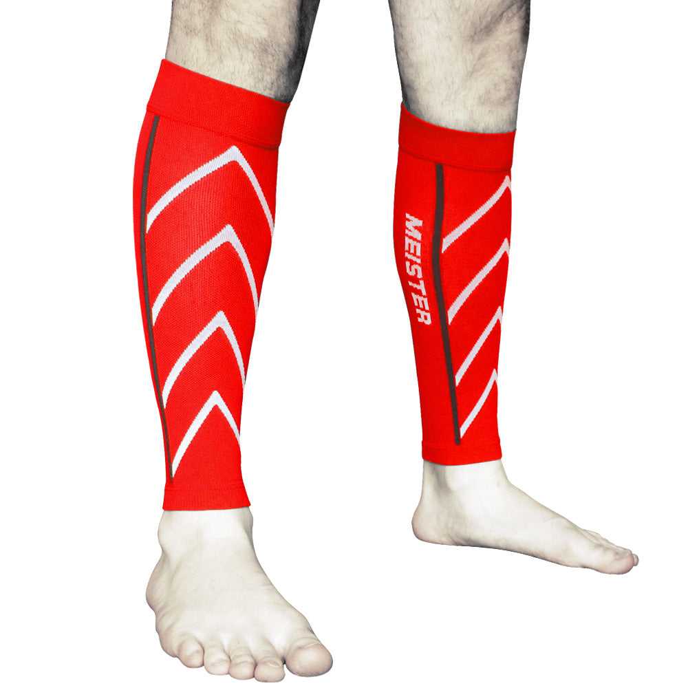 meister compression sleeves pair running calf leg shin splints crossfit s m l xl ebay. Black Bedroom Furniture Sets. Home Design Ideas