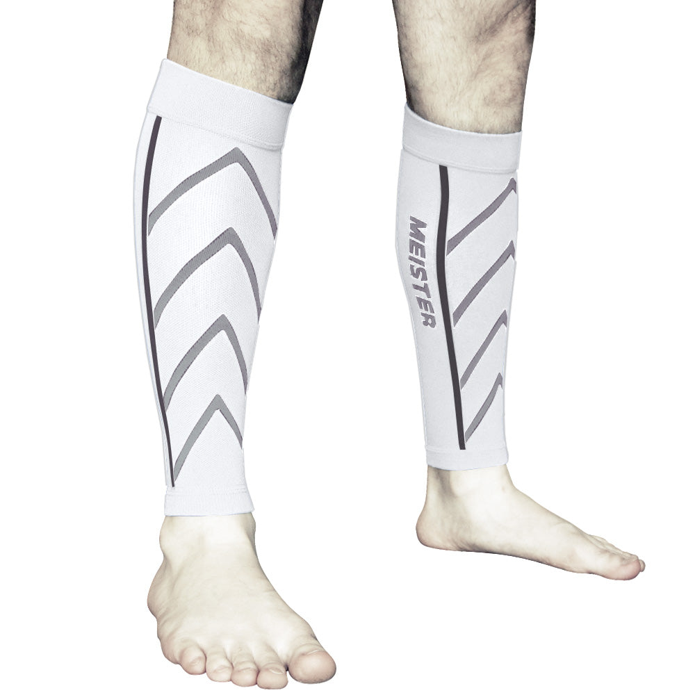 Graduated 20-25mmHg Compression Leg Sleeves (Pair) - White