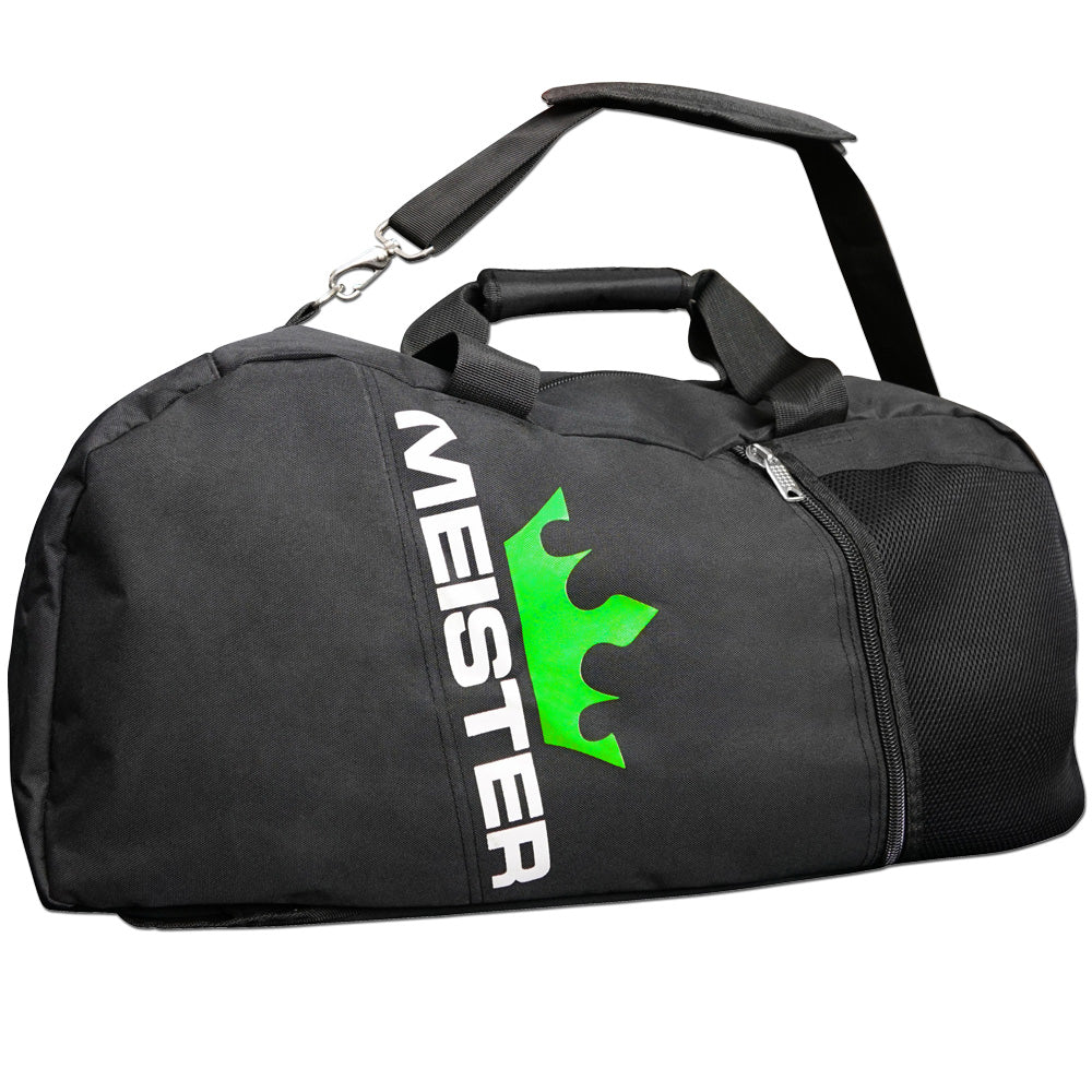 4e4564c5a508 MEISTER CONVERTIBLE BACKPACK   GYM BAG - Black Sports MMA Duffle CARRY-ALL  LARGE 797435693814