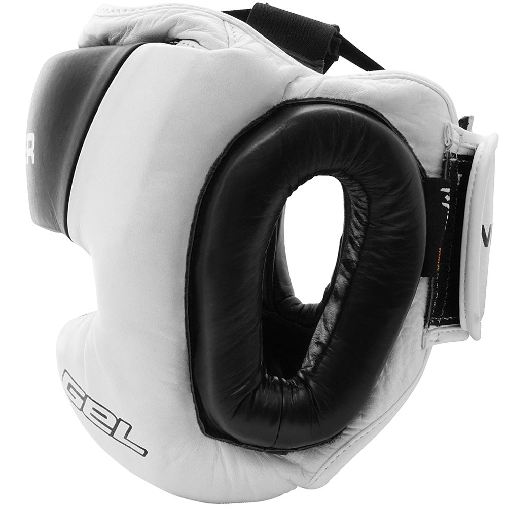 Meister Gel Full-Face Training Head Guard - White/Black/Red