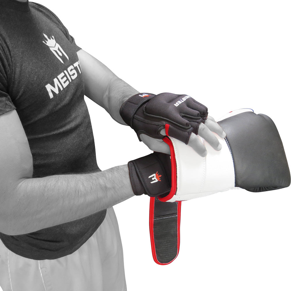 1lb Meister Weighted Workout Gloves Black Heavy Hands