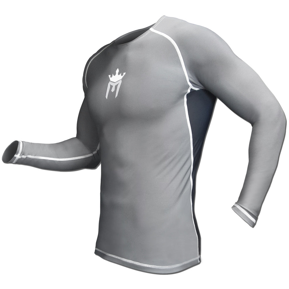 Meister Rush Long-Sleeve Rash Guard - Charcoal/Black