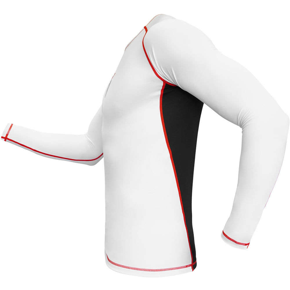 Meister Rush Long-Sleeve Rash Guard - White/Red