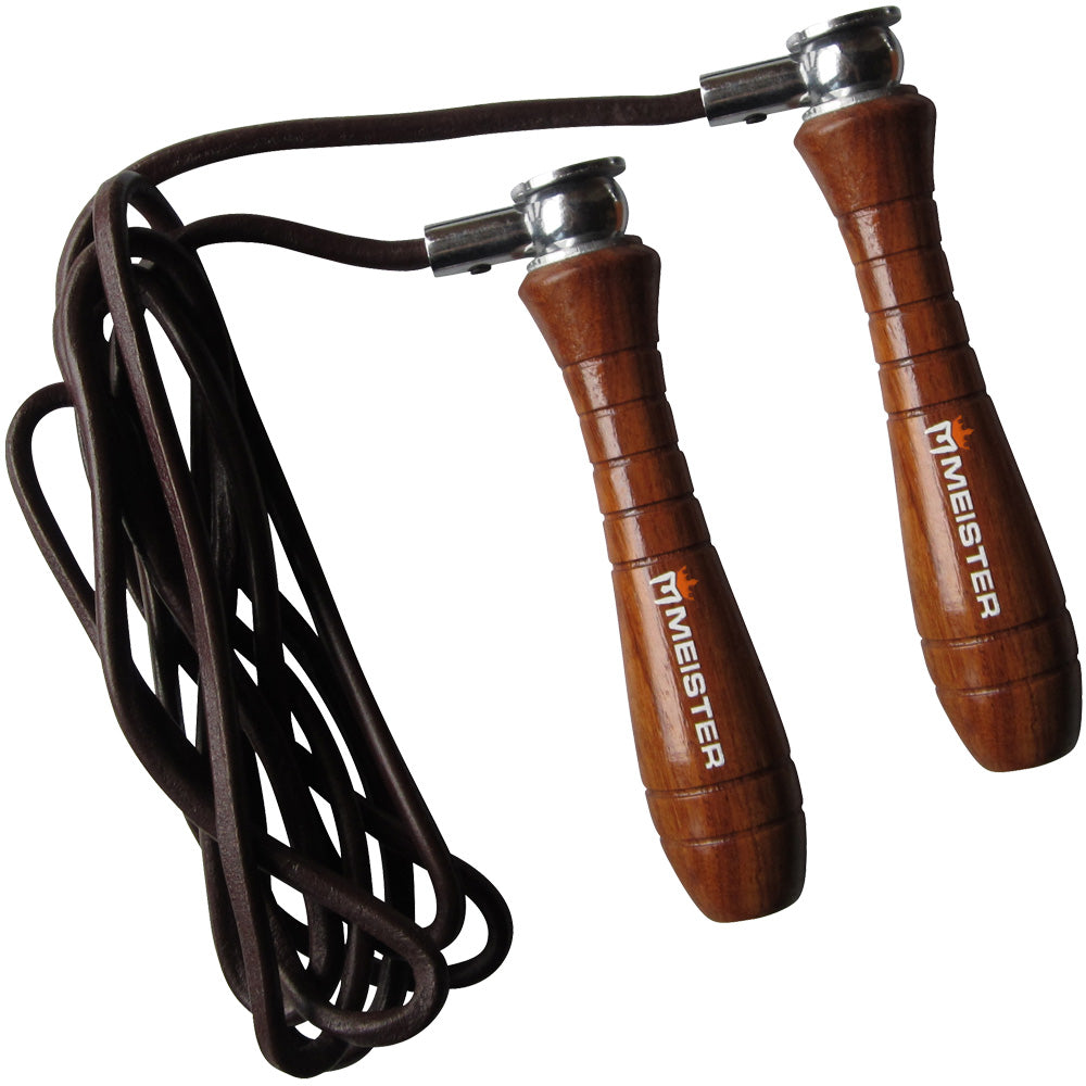 Meister Weighted Wood & Leather Speed Rope