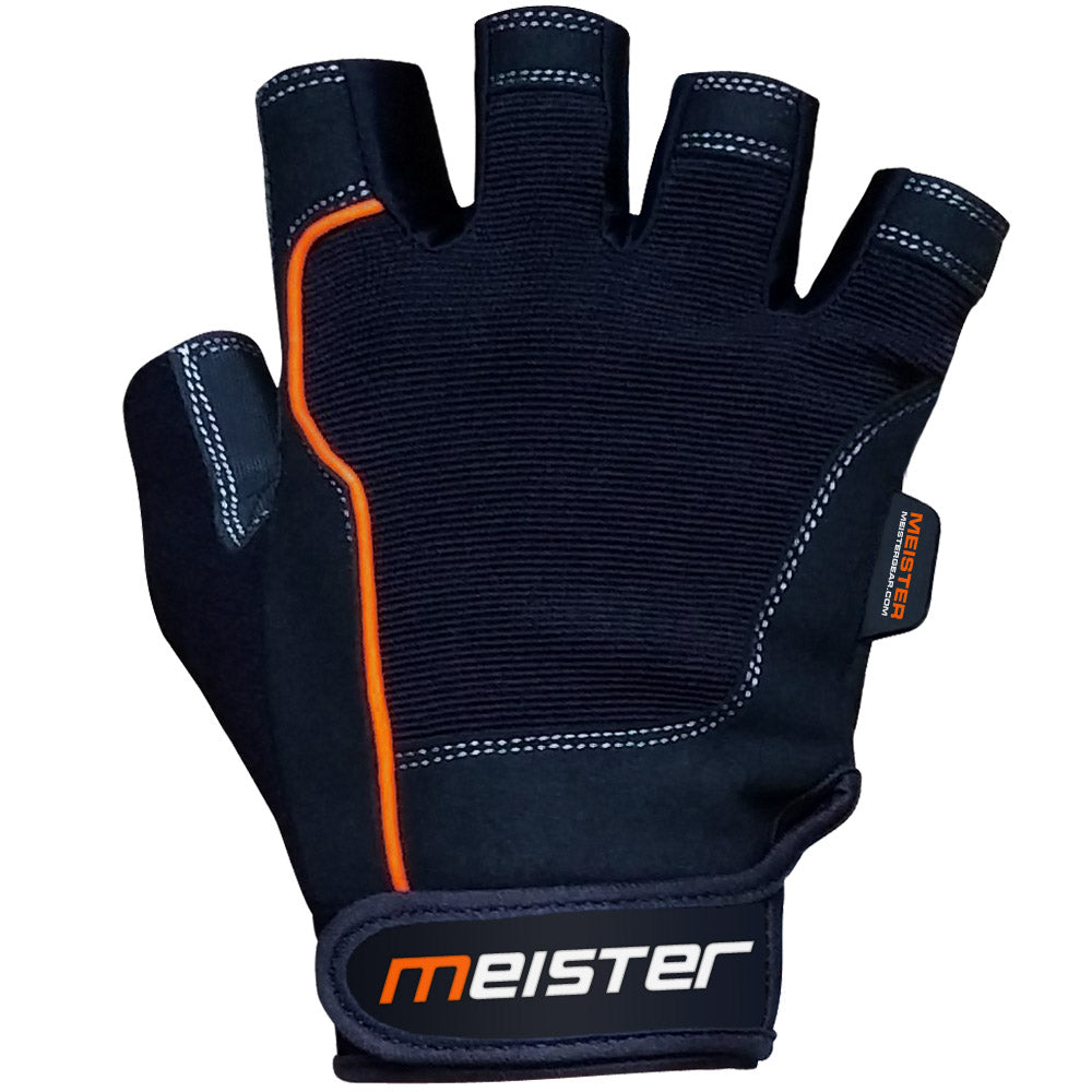 Weight Lifting Gloves: Style: Meister Grip Fit Gloves W/ Grip Contact Padding