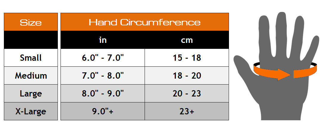 Meister Grip Fit Weight Lifting Gloves - Black/Orange