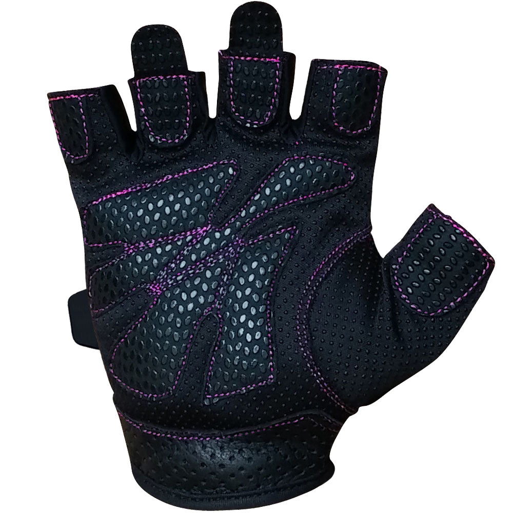 Womens black leather gloves australia -  Meister Women S Fit Weight Lifting Gloves Black Pink