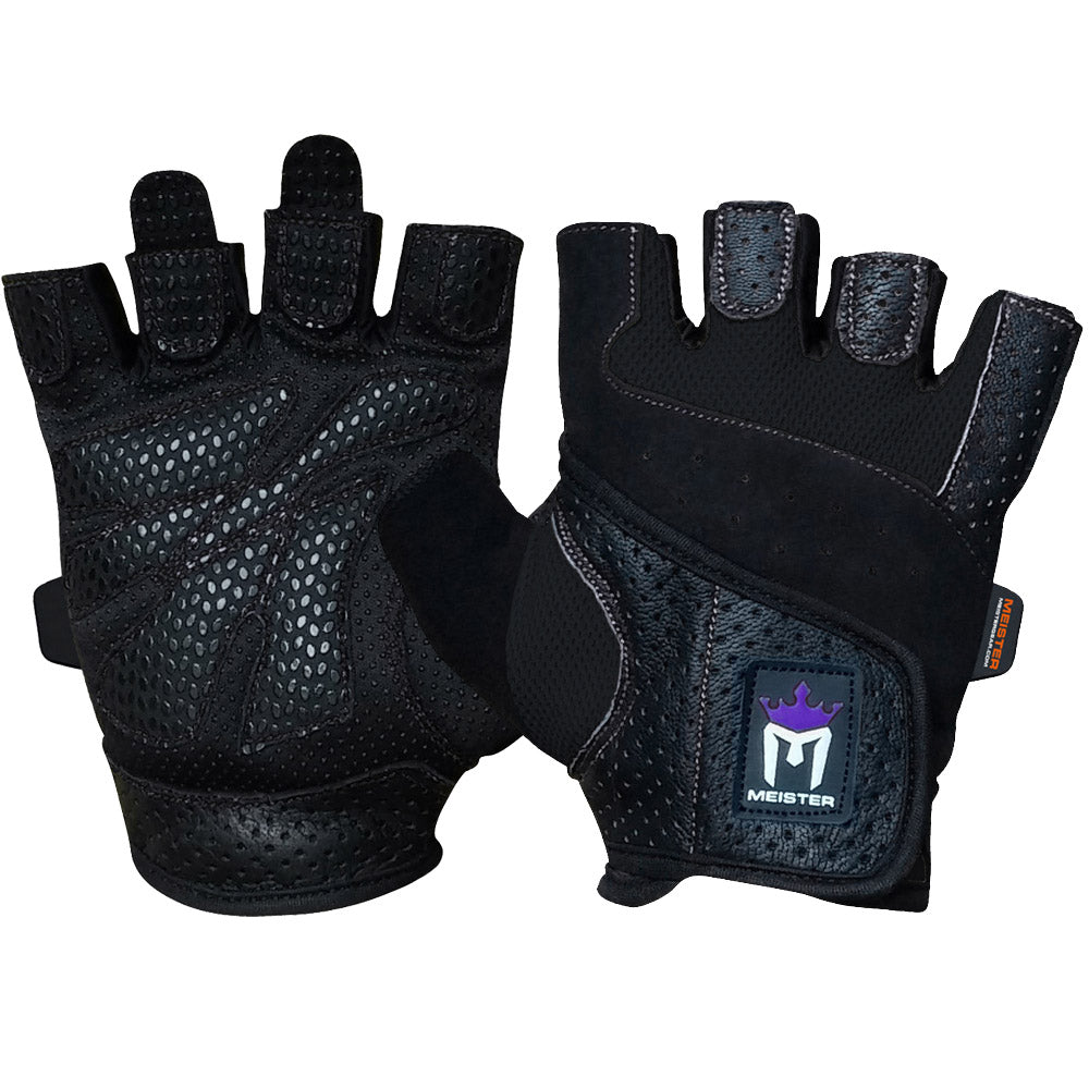 Meister Women's Fit Weight Lifting Gloves - Black