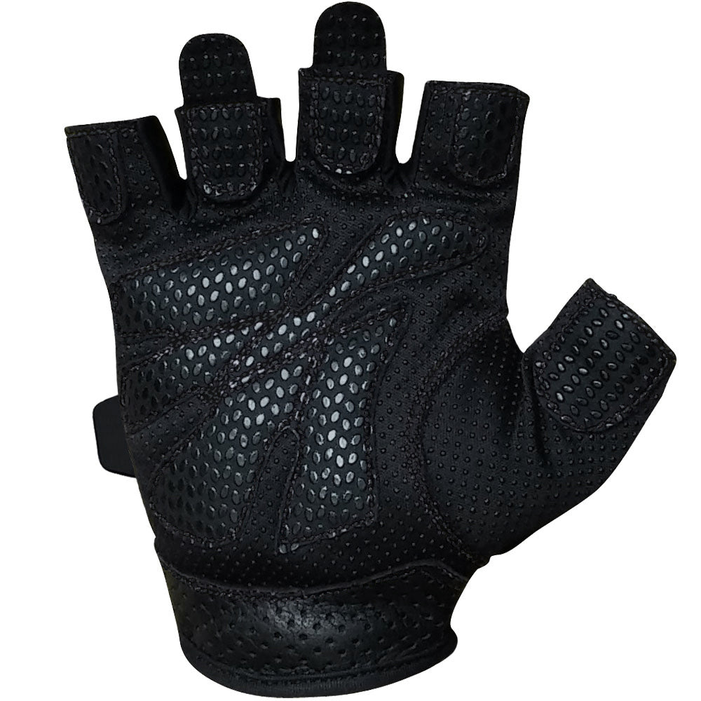 Black Leather Weight Lifting Workout Gloves: Meister Women's Fit Weight Lifting Gloves Ladies Gym
