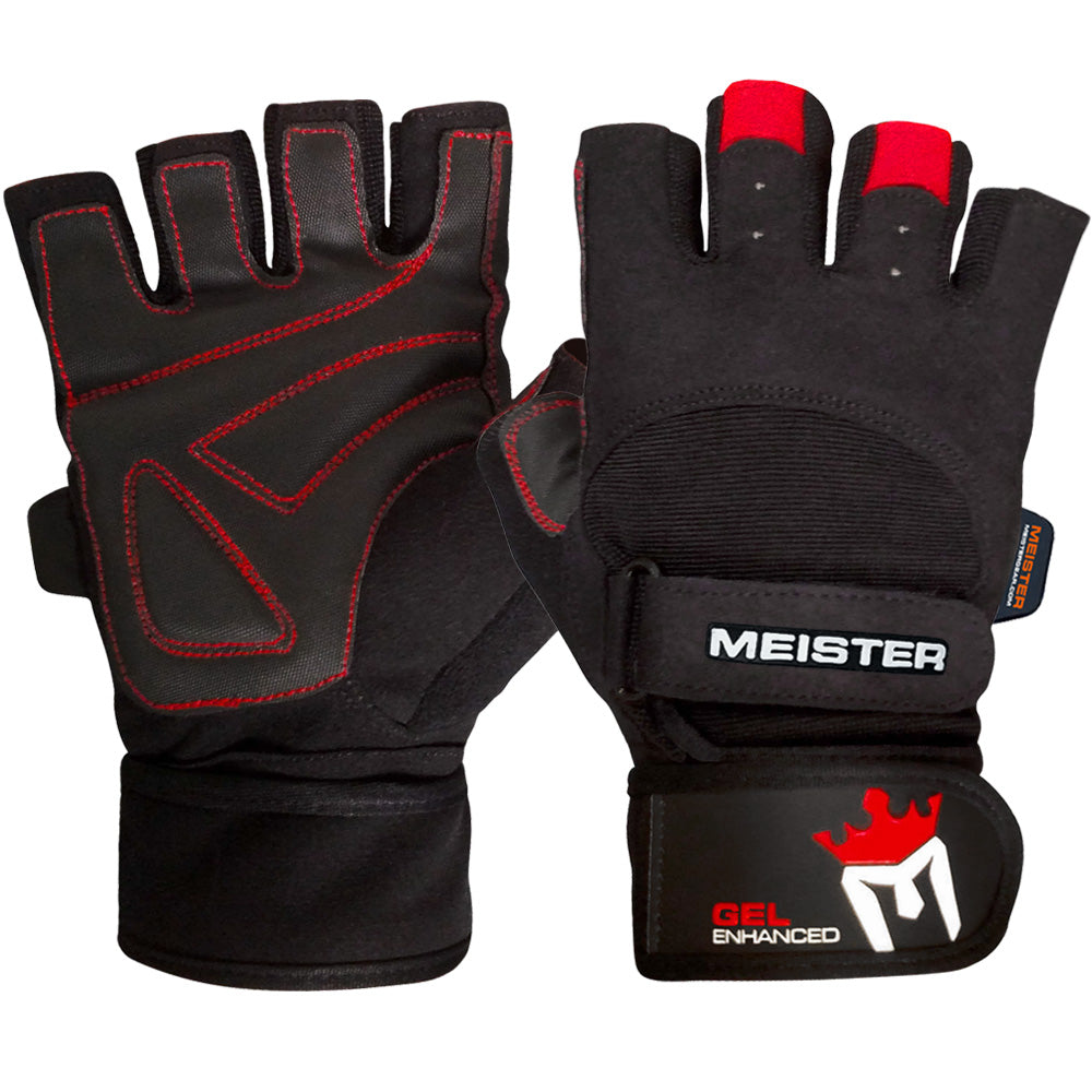 Workout Gloves For Weak Wrists: Meister Wrist Wrap Weight Lifting Gloves W Gel Padding