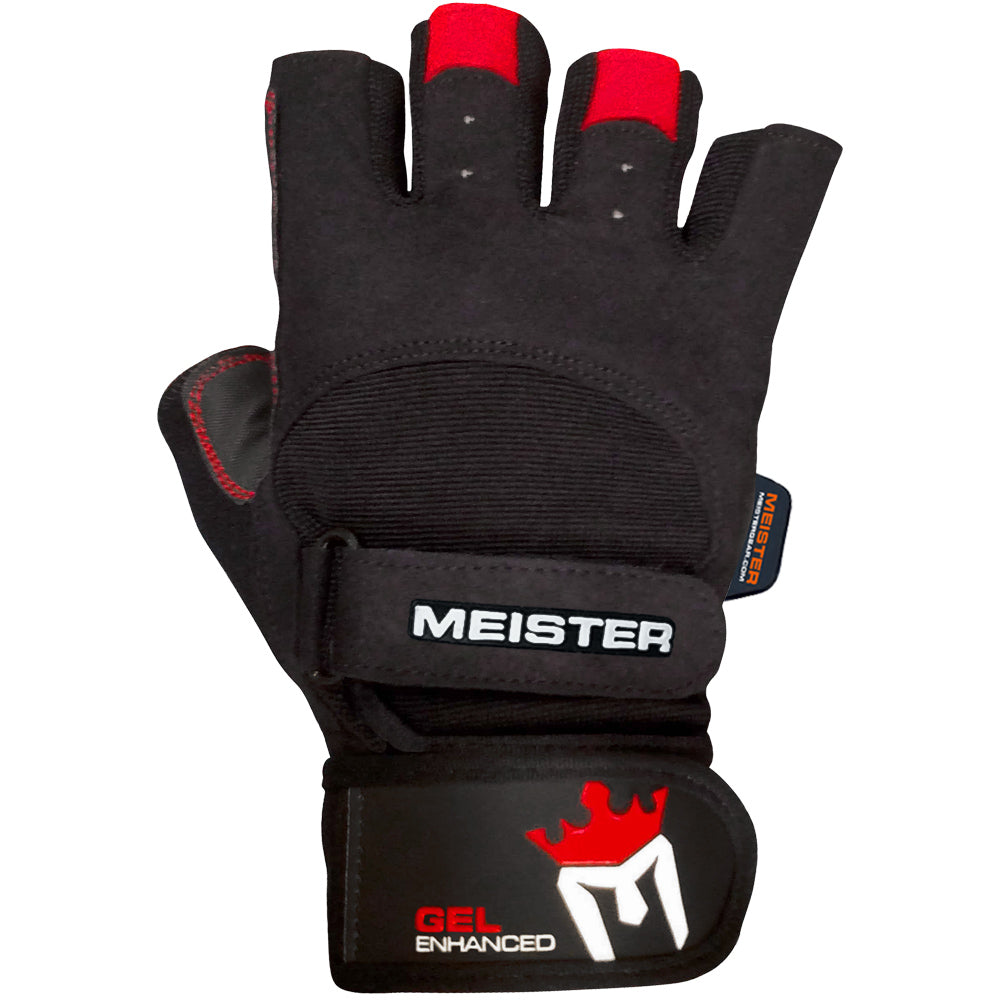 Weight Lifting Gloves With Wrap Around Wrist: MEISTER WRIST WRAP WEIGHT LIFTING GLOVES W/ GEL PADDING