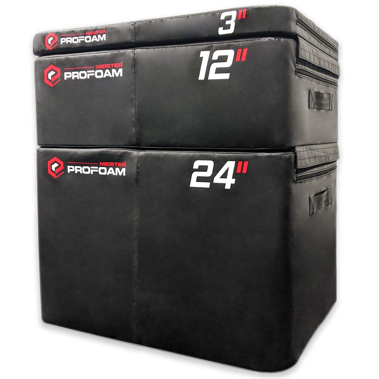"Meister PROFOAM™ Plyo Boxes - 3 Box Set - 24"", 12"", 3"""