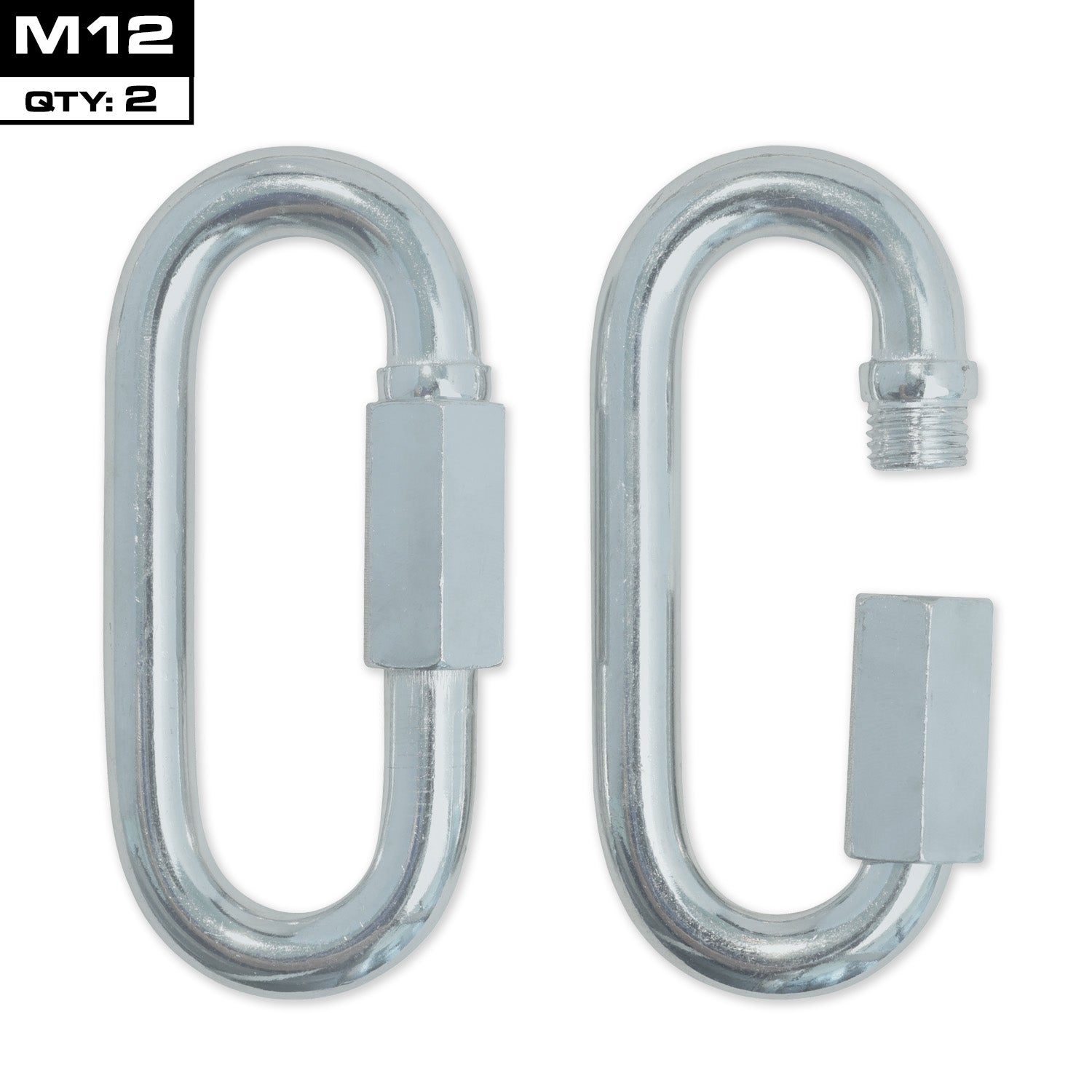 Meister Quick Link Screwlock Carabiners - M12 x 2 Pack