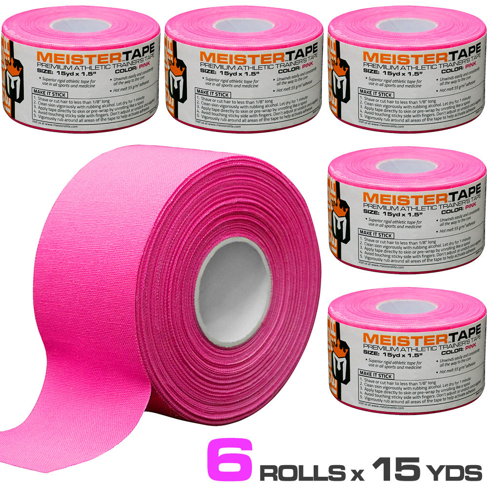 """Multi. Qty. MUELLER MTape 1.5/"""" x 10yd Athletic Trainers Sports Tape All Colors"""