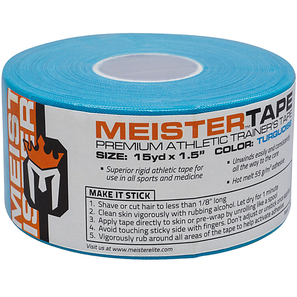 MeisterTape Premium Athletic Trainer's Tape - 15Yd - Turquoise