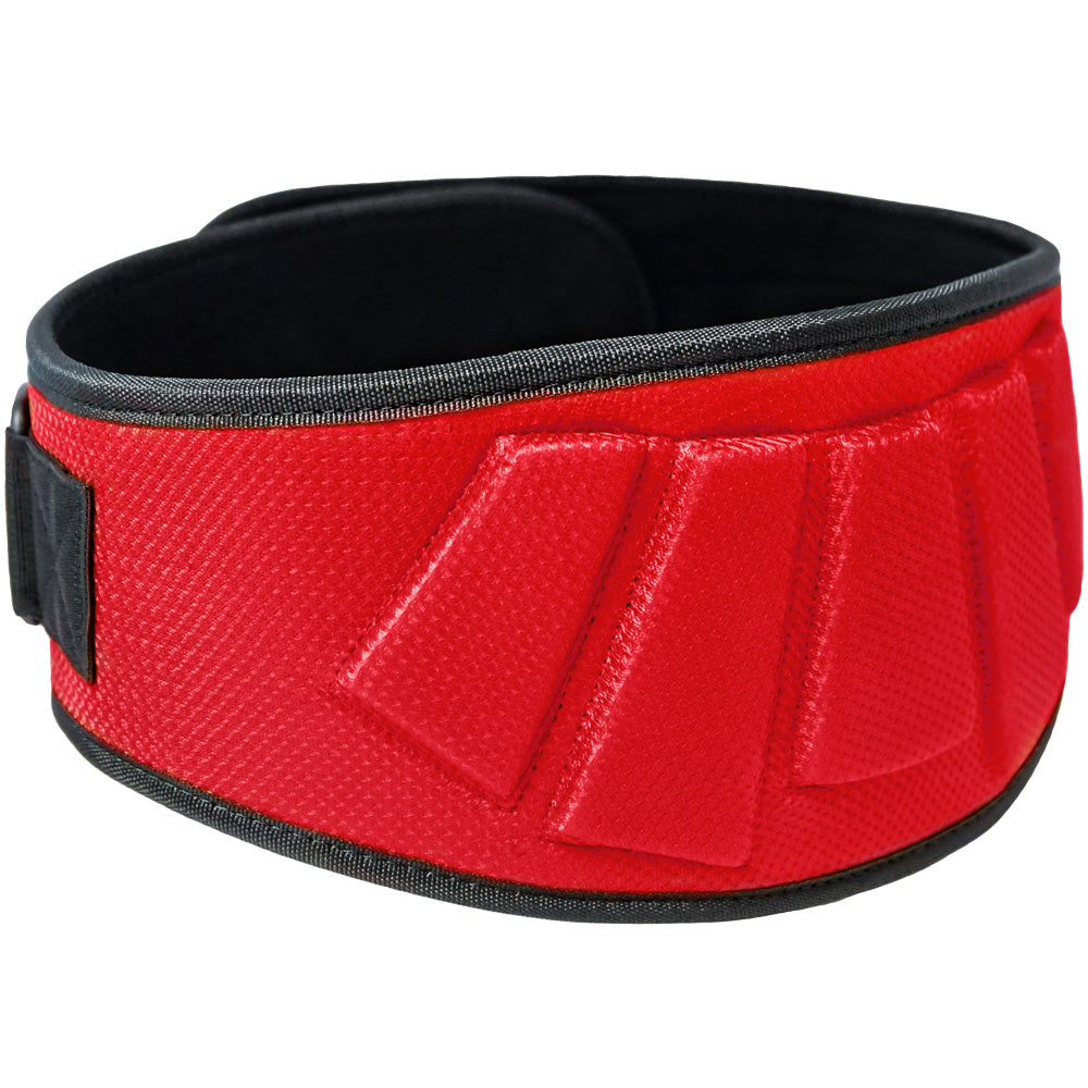 Contoured Neoprene Weight Lifting Belt - Red