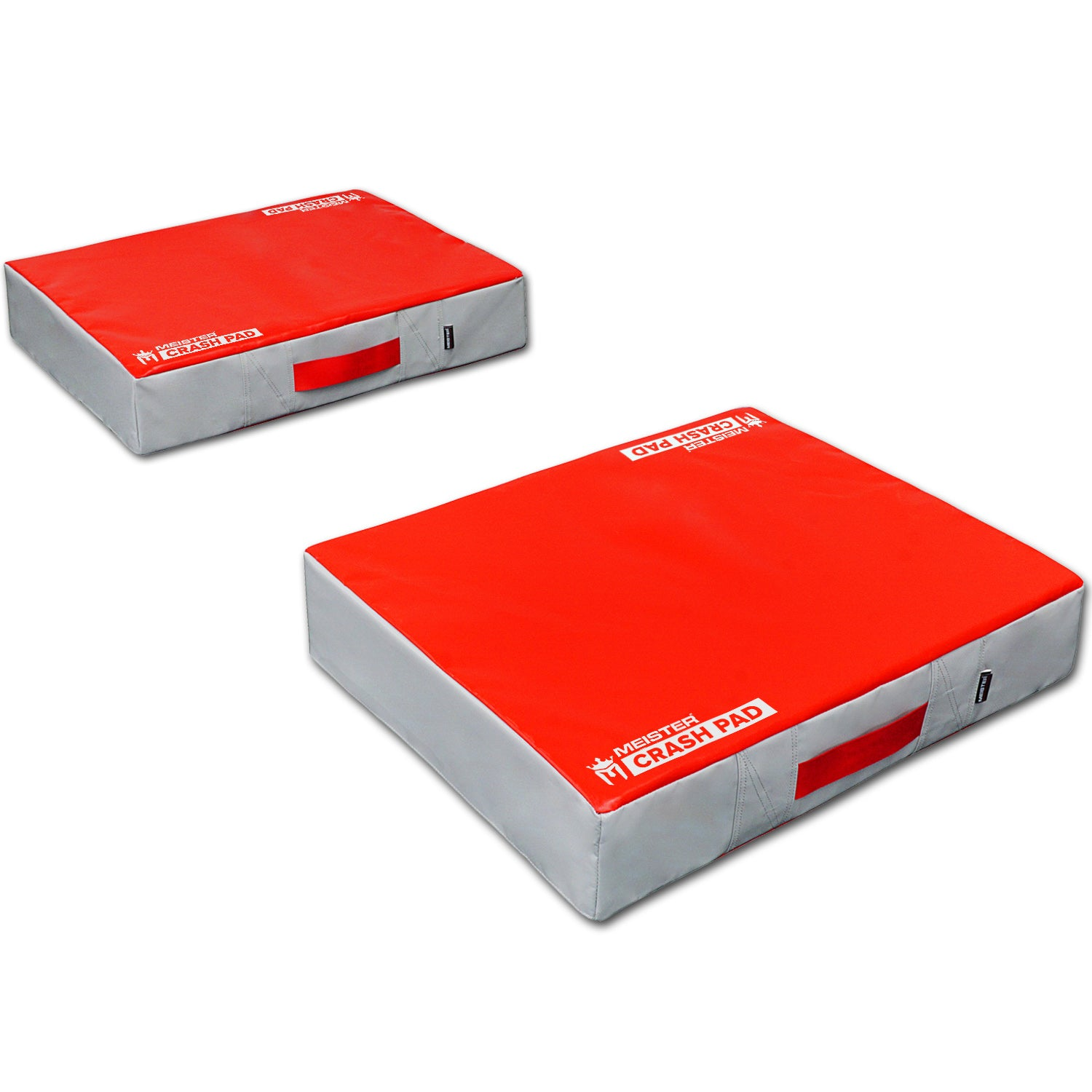 Meister Crash Pad Weight Lifting Drop Pads - Red/Gray (Pair)
