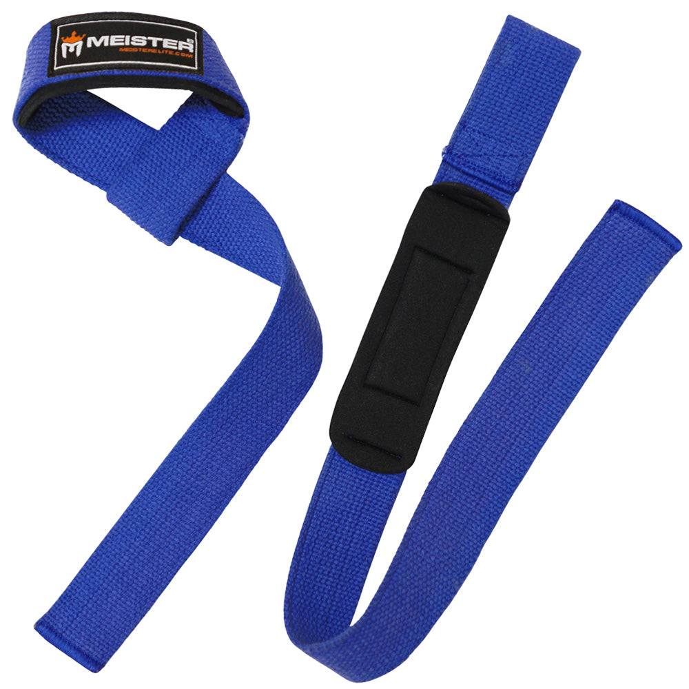 Neoprene-Padded Lifting Straps (Pair) - Blue