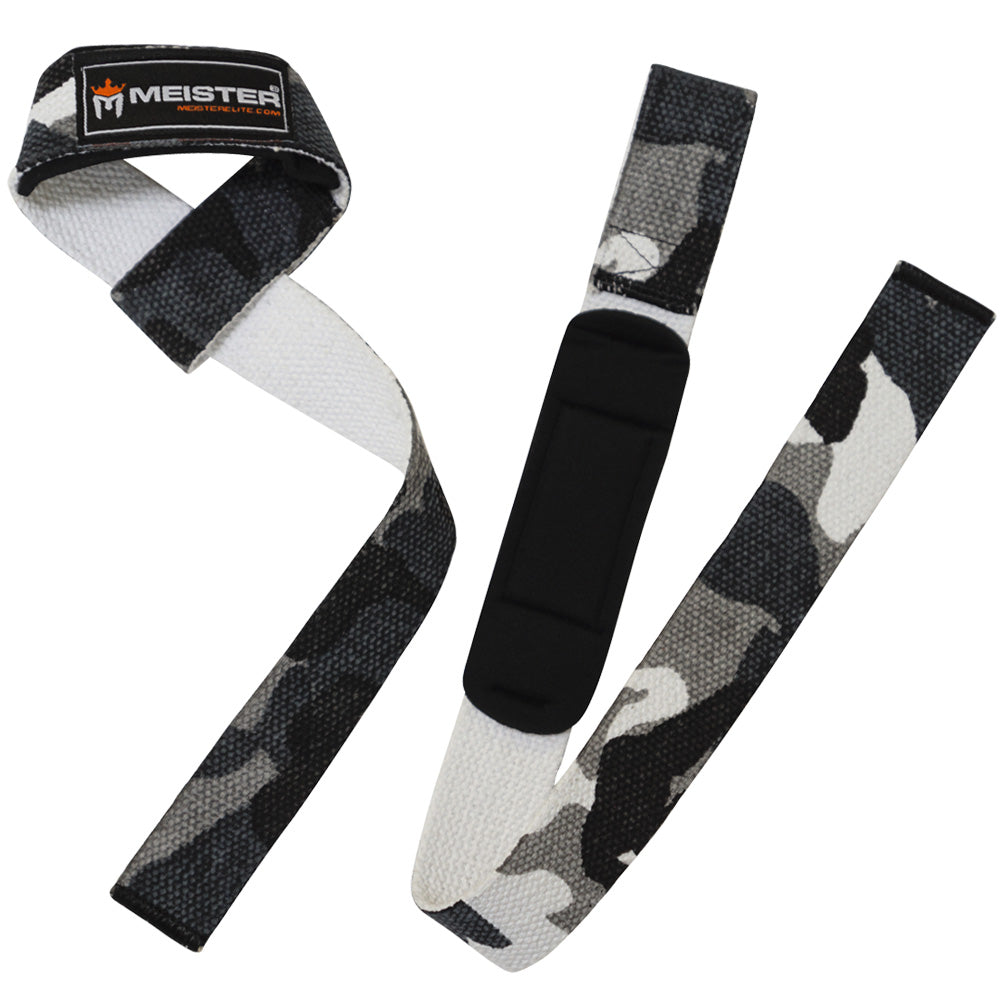 Neoprene-Padded Lifting Straps (Pair) - Urban Camo
