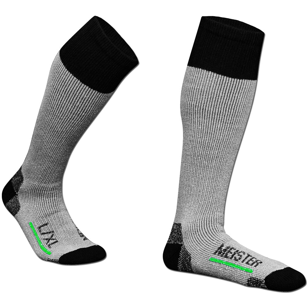 Meister Performance Wool Blend Over-The-Calf Socks - Gray