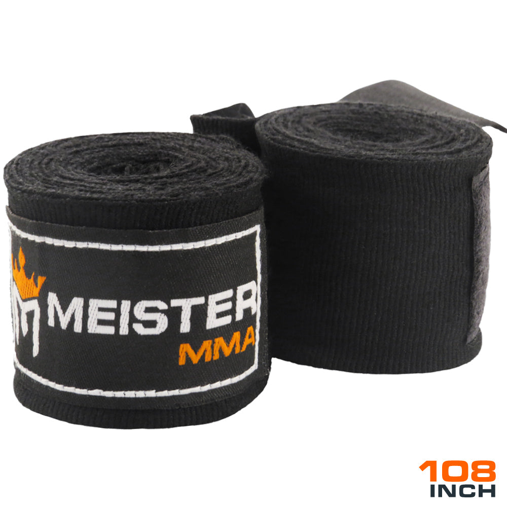 "Junior 108"" MMA Hand Wraps (Pair) - Black"