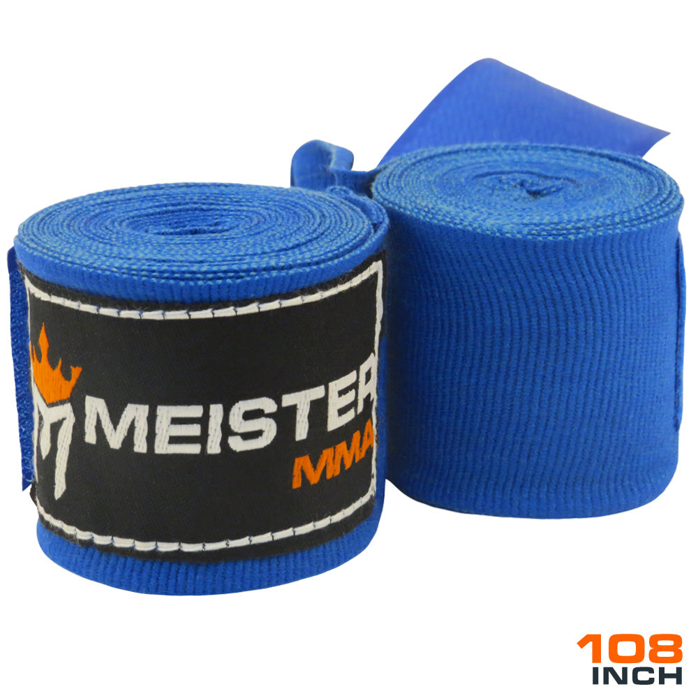 "Junior 108"" MMA Hand Wraps (Pair) - Blue"