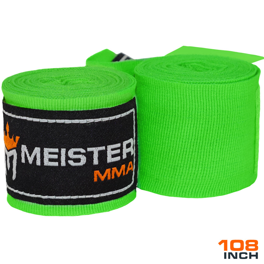 "Junior 108"" MMA Hand Wraps (Pair) - Neon Green"