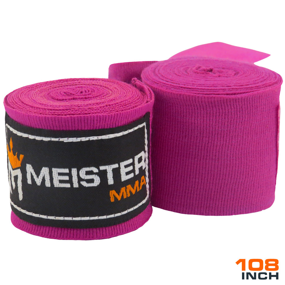 "Junior 108"" MMA Hand Wraps (Pair) - Purple"