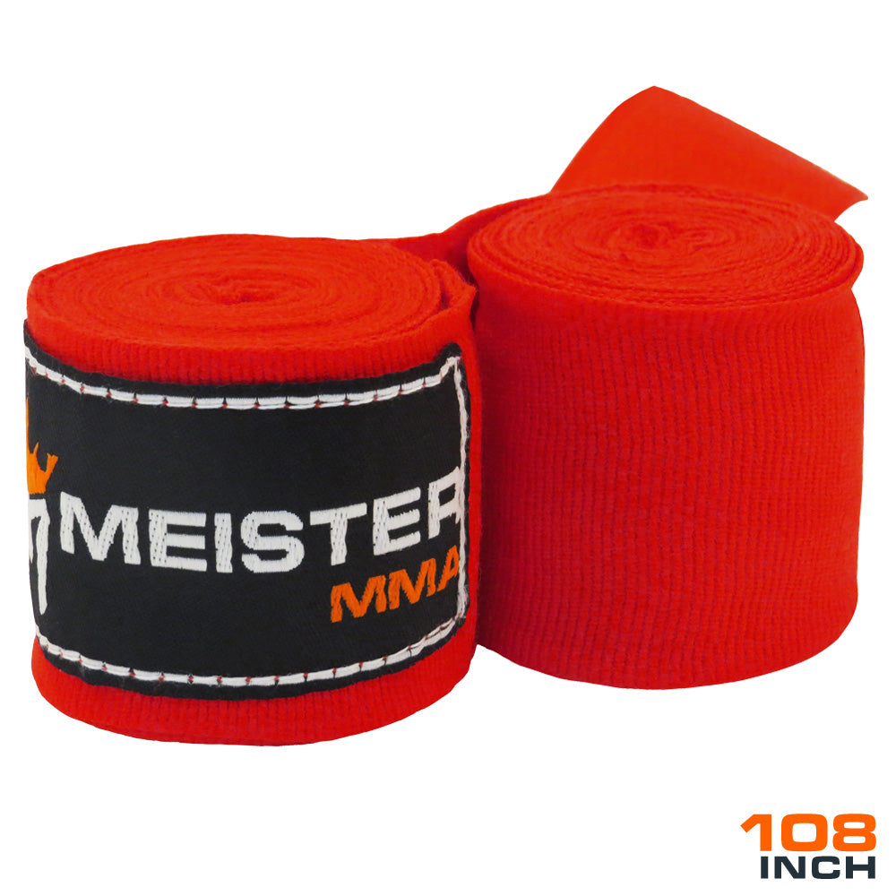 "Junior 108"" MMA Hand Wraps (Pair) - Red"