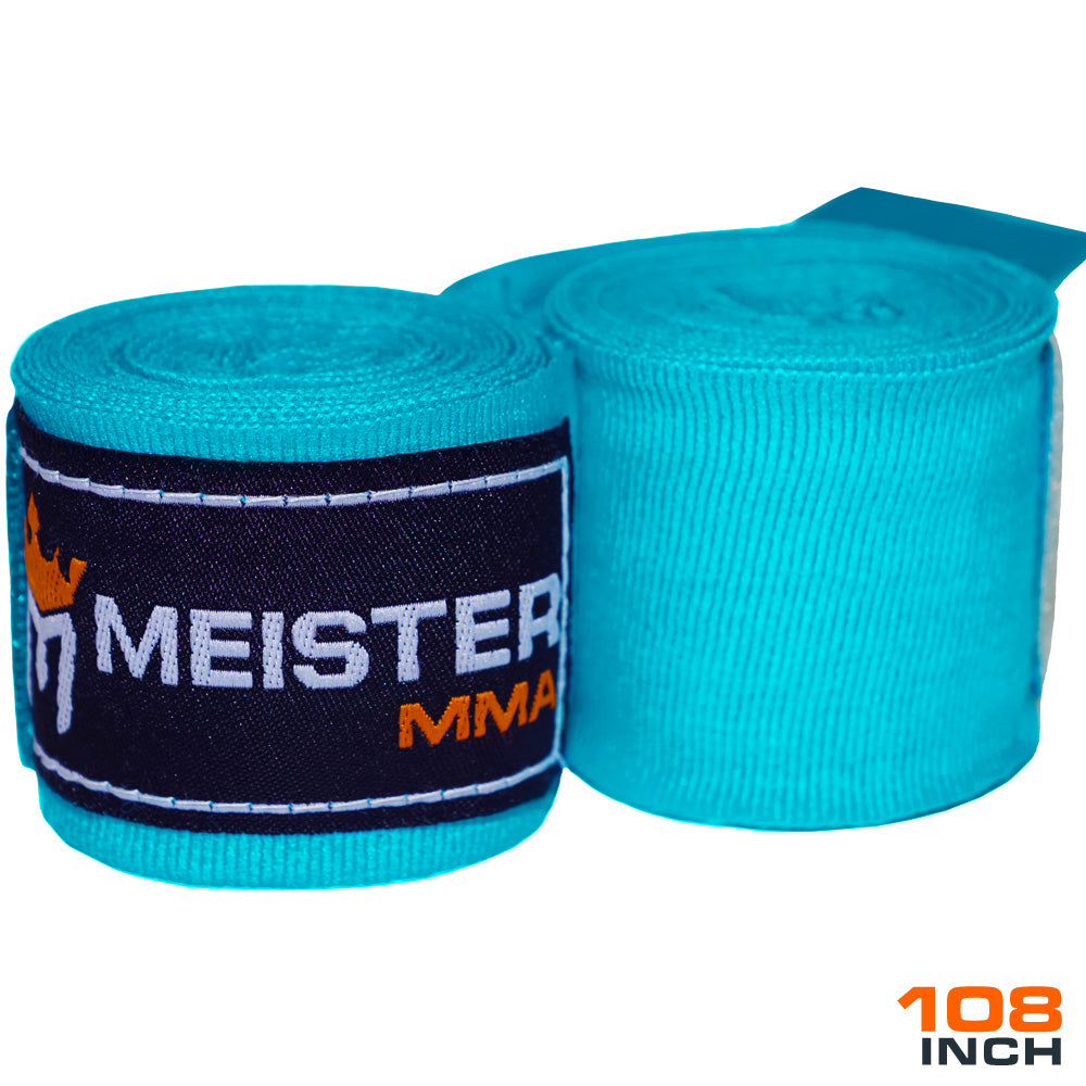 "Junior 108"" MMA Hand Wraps (Pair) - Turquoise"