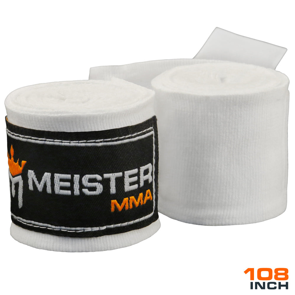 "Junior 108"" MMA Hand Wraps (Pair) - White"