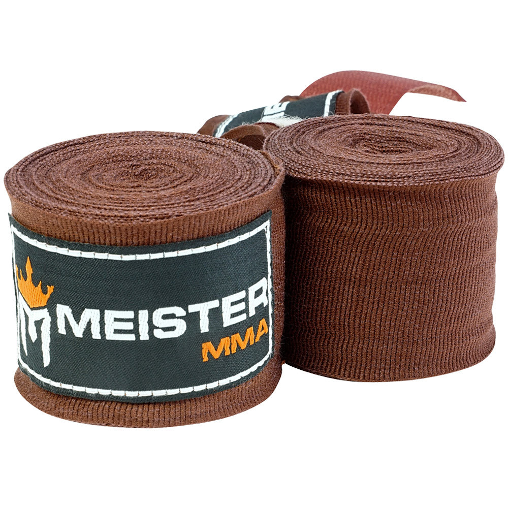 "180"" MMA Hand Wraps (Pair) - Brown"