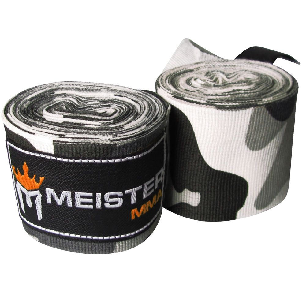 "180"" Semi-Elastic Hand Wraps for MMA & Boxing (Pair)-Urban Camo"