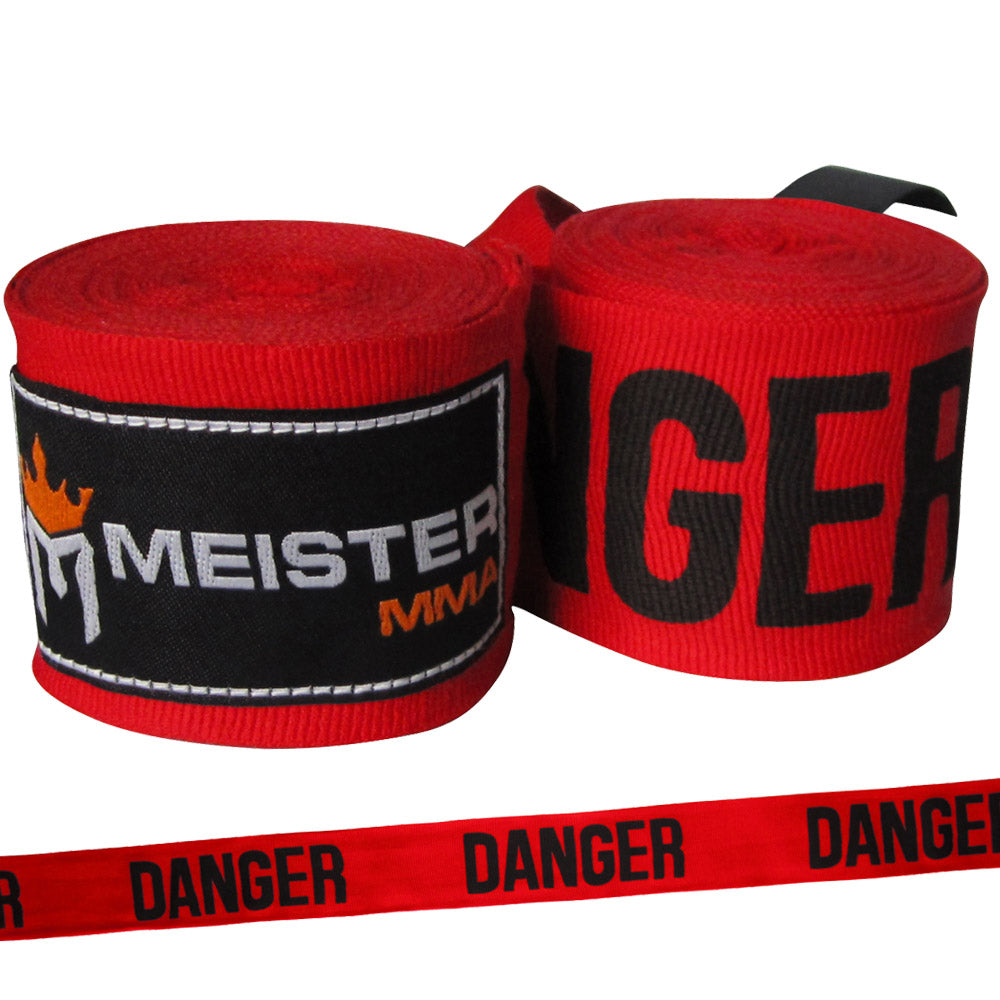 "180"" MMA Hand Wraps (Pair) - Danger Red"