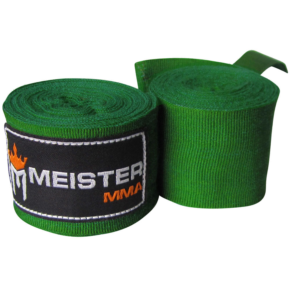 "180"" Semi-Elastic Hand Wraps (Pair) - Forest Green"