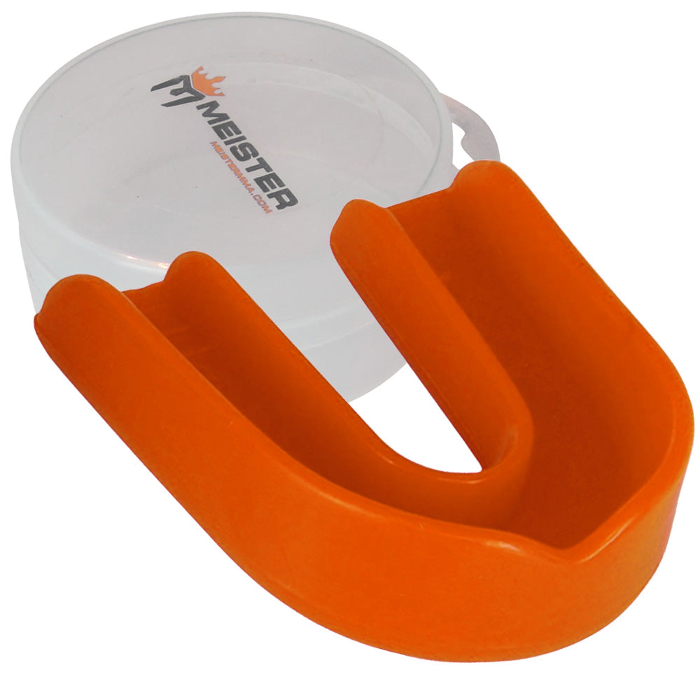 Orange Moldable Single Mouth Guard w/ Case