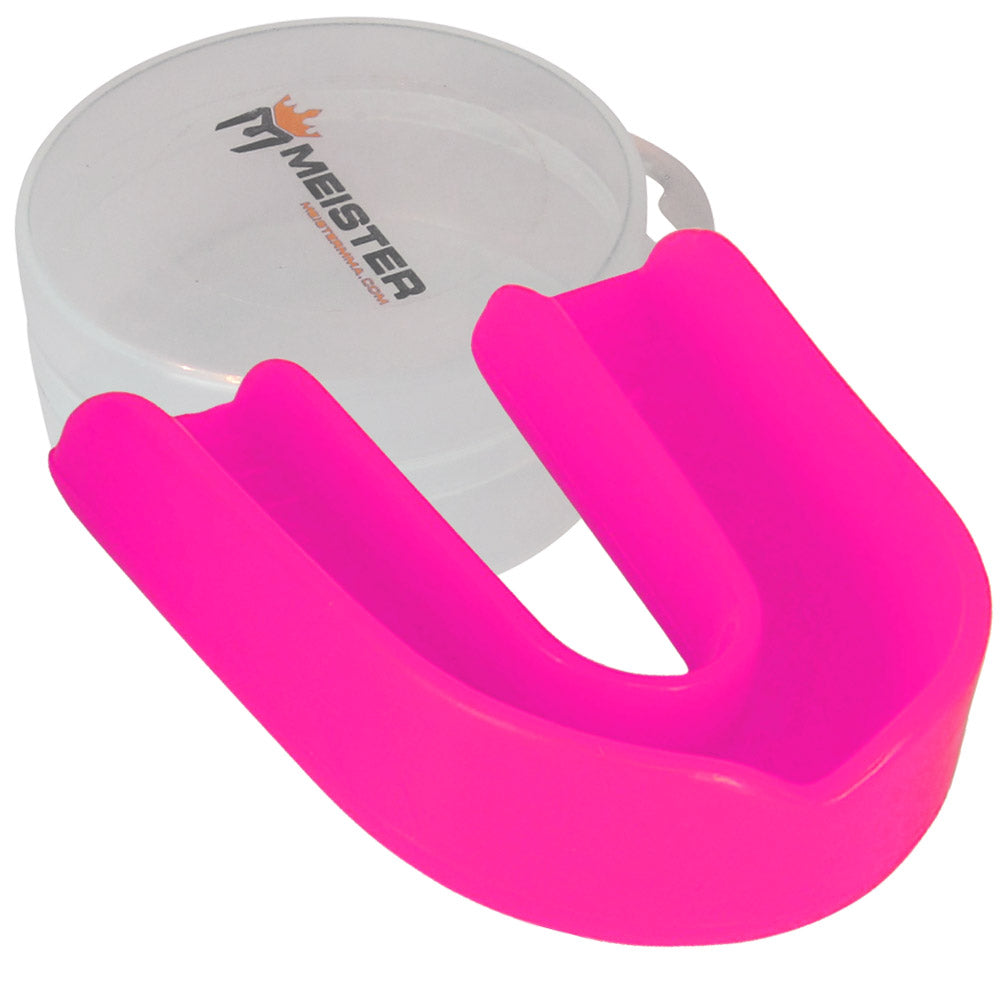Pink Moldable Single Mouth Guard w/ Case