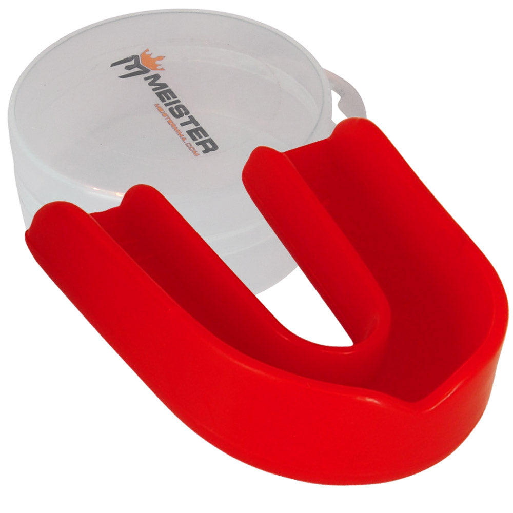 Red Moldable Single Mouth Guard w/ Case