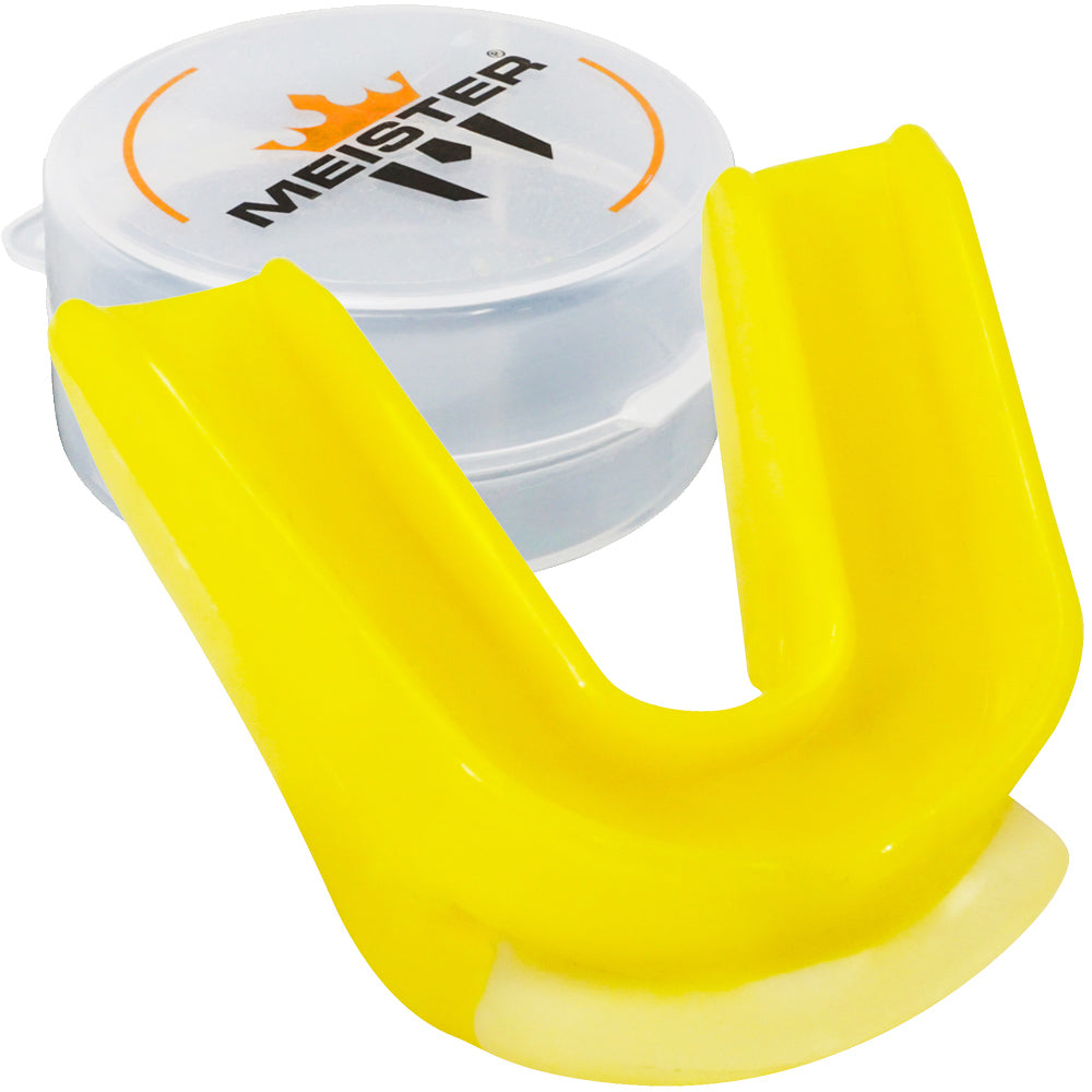 Yellow Moldable DOUBLE Mouth Guard w/ Case