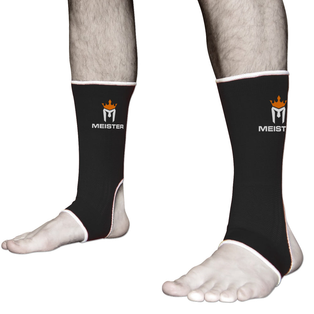 Muay Thai MMA Ankle Support Wraps (Pair) - Adult Black