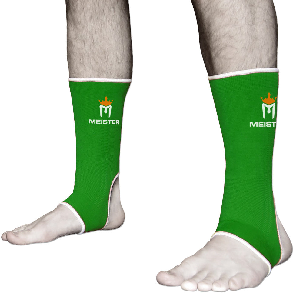 Muay Thai MMA Ankle Support Wraps (Pair) - Adult Forest Green